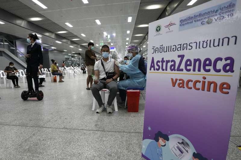 泰國民眾接種阿斯特捷利康(AZ)疫苗(AP)
