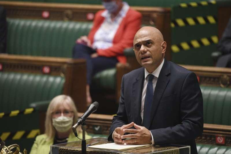 英國衛生大臣賈維德(Sajid Javid)2021年7月確診新冠肺炎(AP)
