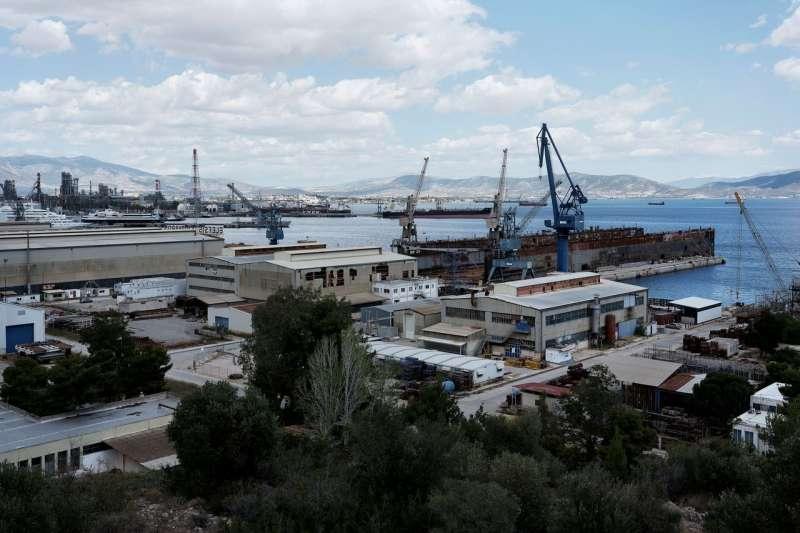 在希臘Elefsina一個老舊船廠的潛在投資者正期望美國的經濟支持。(圖片來源:The Wall Street Journal)
