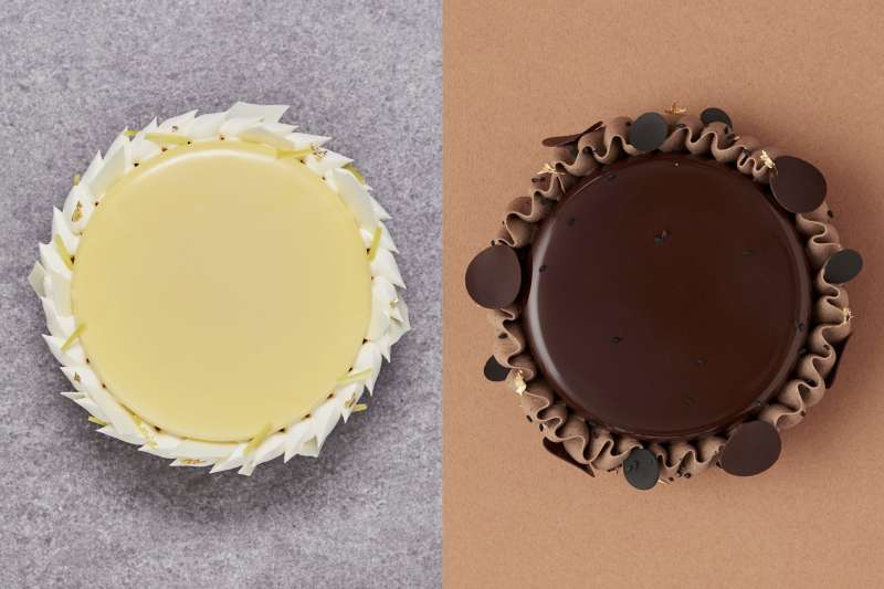 主打法式盤式甜點的 HUGH,疫情期間提供整模蛋糕外帶(圖 / HUGH dessert dining@Facebook)