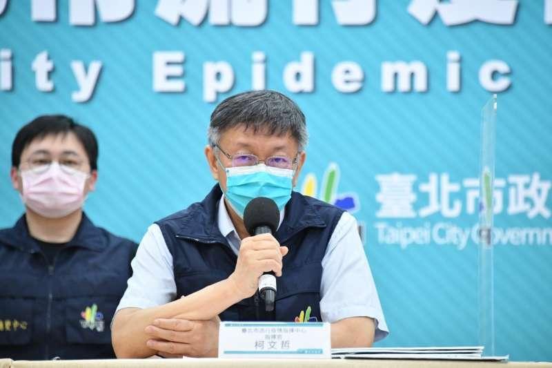 針對高嘉瑜稱自己沒有施壓,只是陳情轉達,台北市長柯文哲(見圖)說,民代有選民壓力,應該是行政部門,要做篩選。(資料照,北市府提供)
