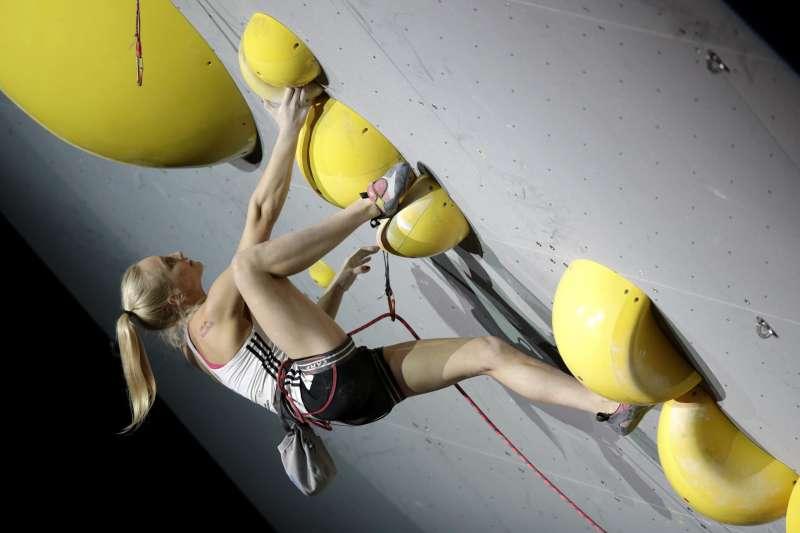 2021日本東京奧運:斯洛維尼亞運動攀岩選手賈恩布雷特(Janja Garnbret)(AP)