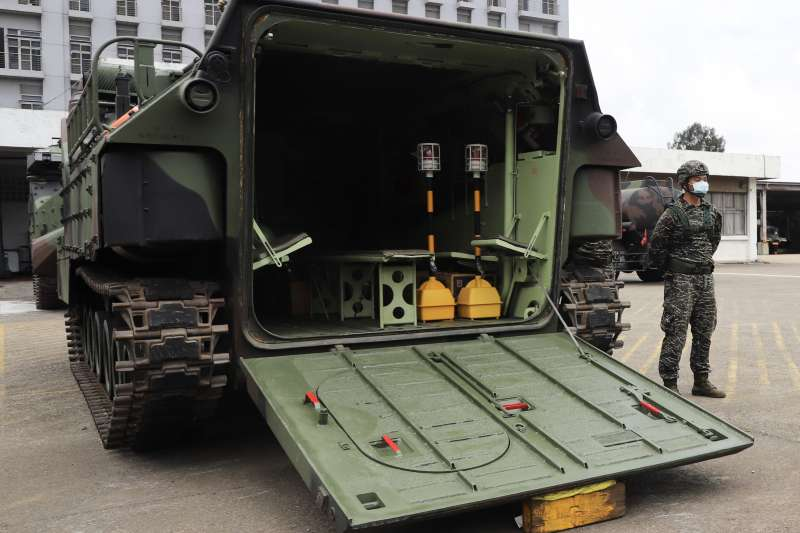 20210721-AAV7兩棲突擊車。(第3作戰區提供)
