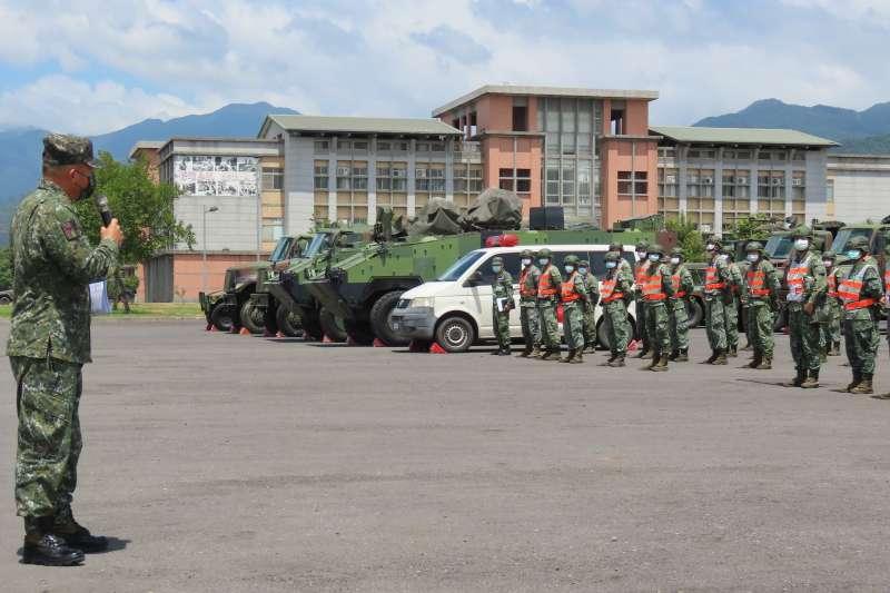 20210721-雲豹8輪甲車。(第3作戰區提供)