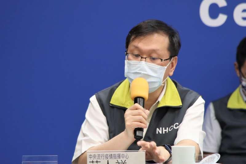 台灣發生13個接種AZ疫苗發生血栓合併血小板症狀的案例,最年輕的22歲,中央防疫指揮中心發言人莊人祥說,「與國際相當。」。(中央流行疫情指揮中心提供)