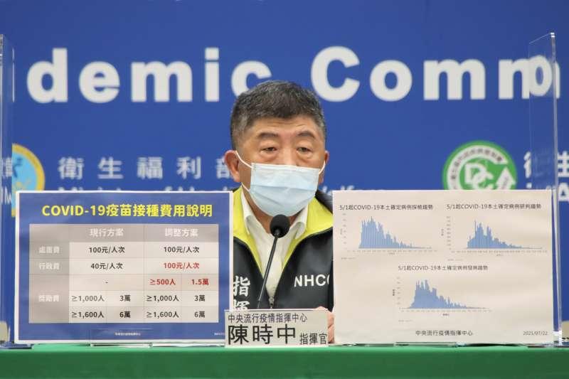 指揮中心宣布,全國防疫警戒將自27日起降至第二級。(圖/中央流行疫情指揮中心提供)