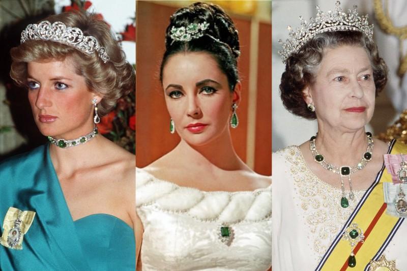黛安娜王妃、伊莉莎白·泰勒、伊麗莎白二世(圖/左、右:取自網路 中:取自Bulgari官網)