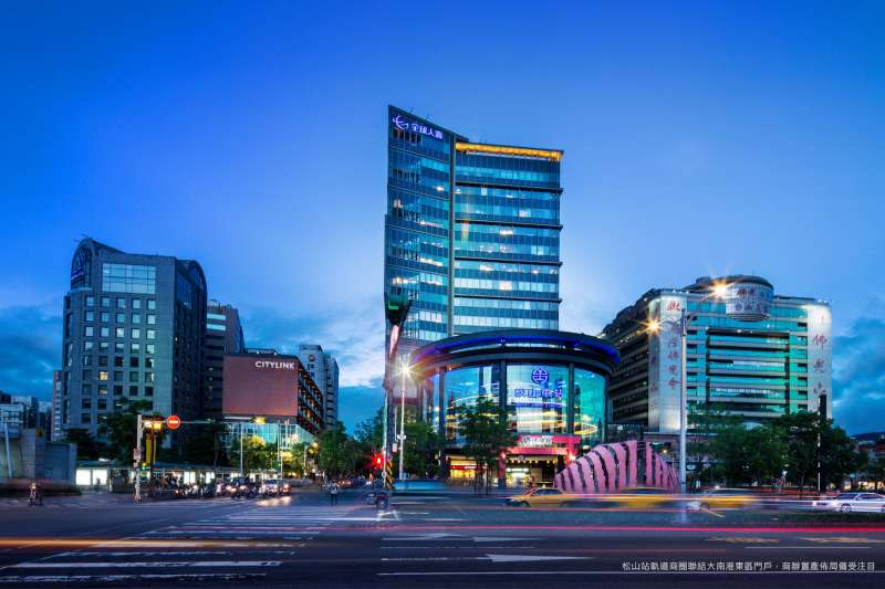 松山站軌道商圈聯結大南港東區門戶,商辦置產佈局備受注目。(圖/業者提供)