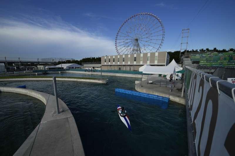 2021日本東京奧運:舉行輕艇和划船賽事的水之森水上競技場(AP)