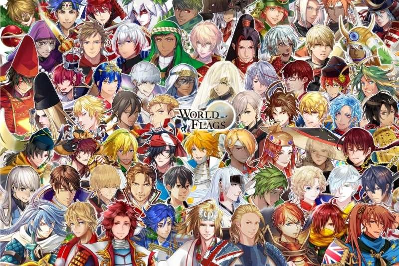 日本藝術家發起「世界國旗」計畫,將多個國家的國旗擬人化為武士,希望讓人們更樂於接受奧運精神與日本文化。(取自@worldflagsamurai/Facebook)