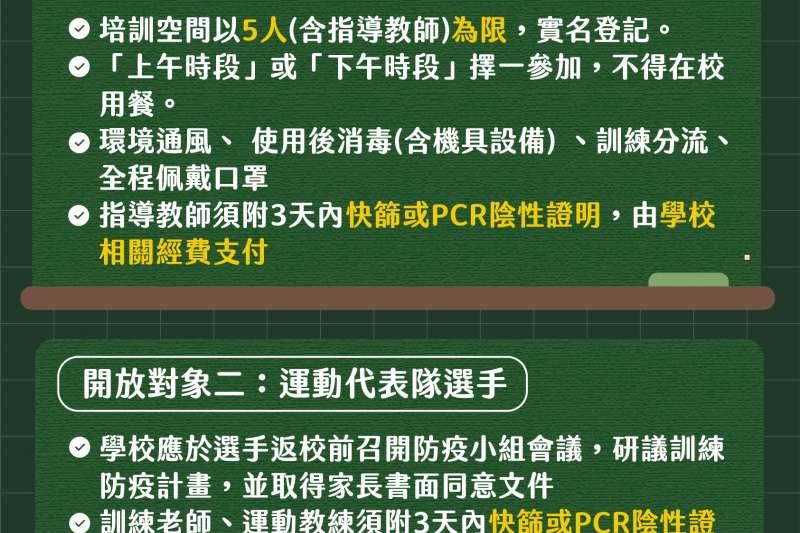台北市府公布運動代表隊、競技選手27日起逐步開放。(北市府提供)