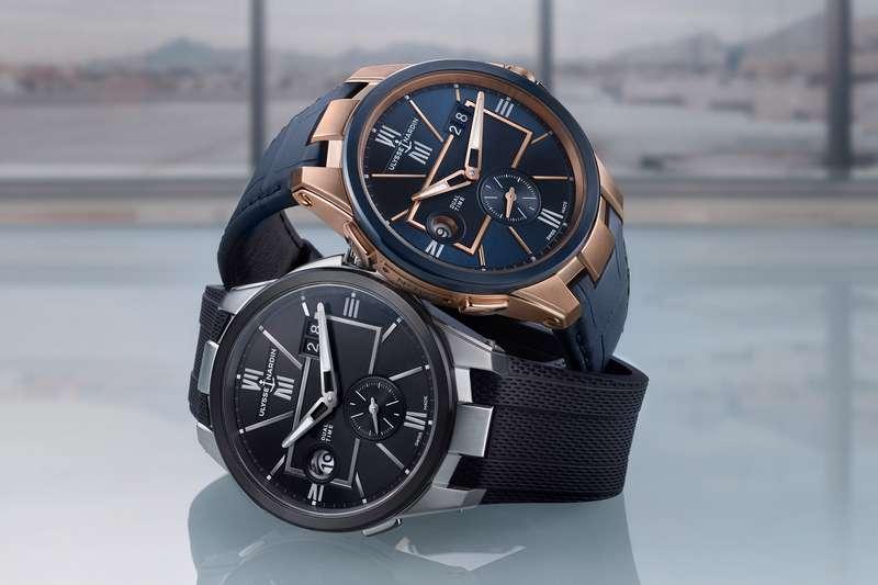 雅典錶再現經典,推出全新設計的經理人系列「雙時區腕錶」(圖 / Ulysse Nardin 提供)