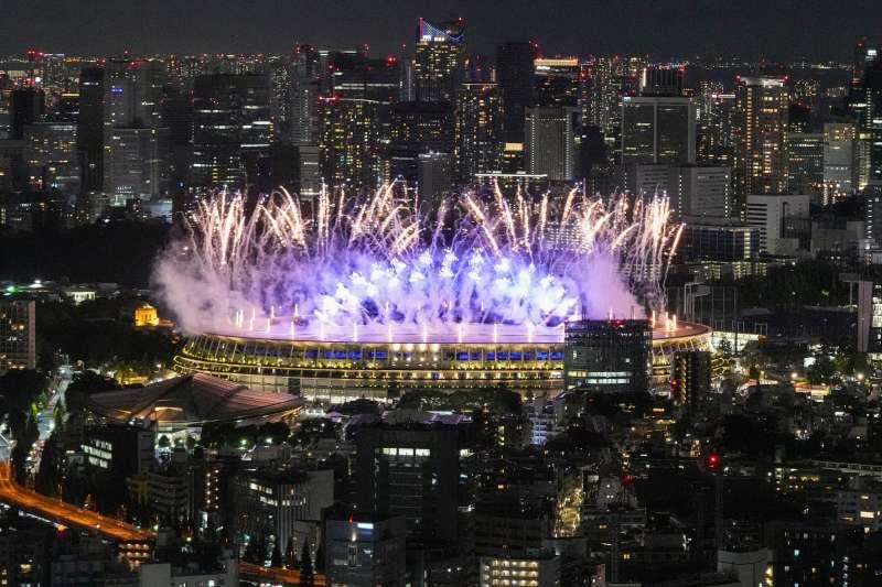 2021年7月23日,東京奧運(東奧)開幕式表演節目(AP)