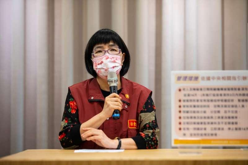 20210723-新北市社會局長張錦麗23日出席記者會說明公托、日照等場所開放規劃。(新北市政府提供)