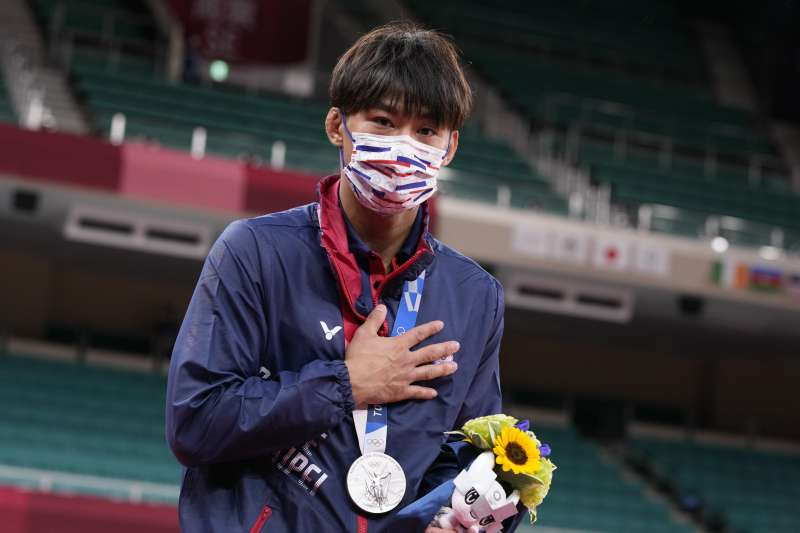 東京奧運,台灣代表隊柔道選手楊勇緯勇奪銀牌(AP)