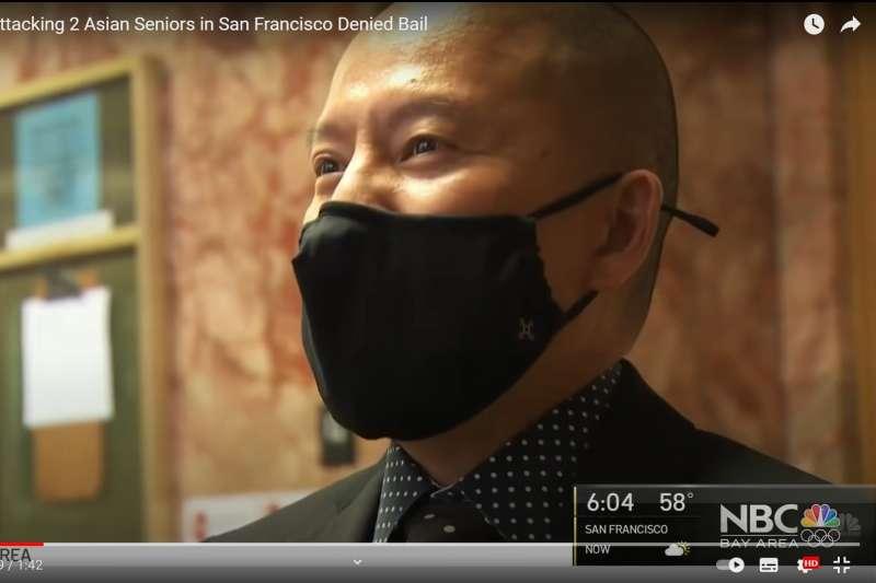 美國舊金山的公設辯護律師麥克伯尼(Eric McBurney),本名張富翔,來自台灣。(YouTube)