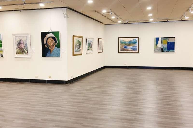 平安美好-新北市現代藝術協會2021會員聯展展出作品。(圖/新北市文化局提供)