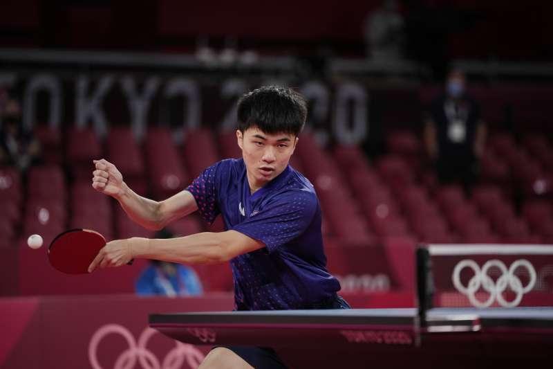 台灣桌球好手林昀儒在東京奧運桌球場上表現亮眼。(資料照,美聯社)