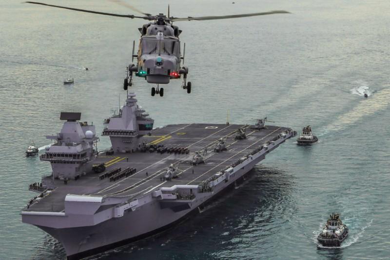 英國皇家海軍的伊莉莎白女王號航空母艦。(英國皇家海軍官網)