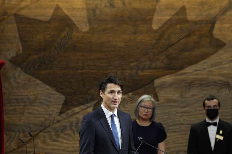2021年7月26日,加拿大總理杜魯道出席總督就職典禮(AP)