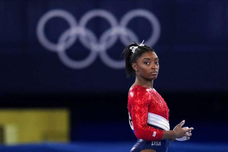 奧運四金天后西蒙・拜爾斯(Simone Biles)。(美聯社)