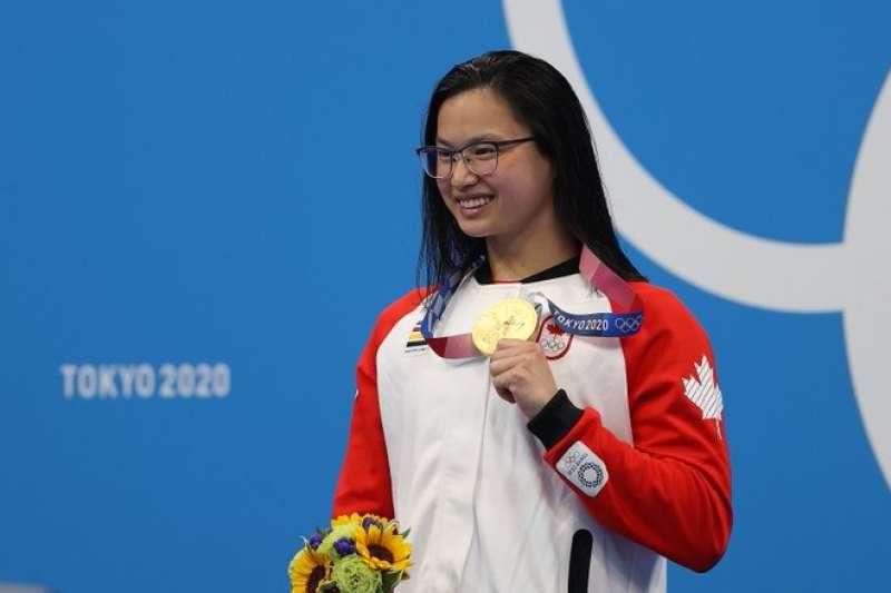 女子100公尺蝶泳冠軍竟多年前是中國棄嬰,揭露一胎化政策慘局。(圖/取自Swimming Canada / Natation Canada@twitter)