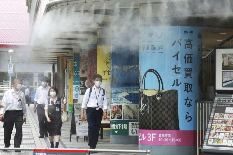 疫情下的東京街頭。(美聯社)