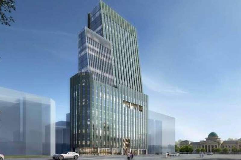 台北市館前聯合大樓都市更新案示意圖。(圖/日勝生提供)