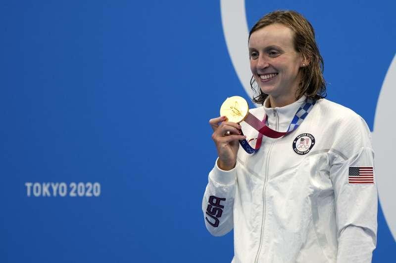 2021日本東京奧運:美國游泳選手雷德基(Katie Ledecky)(AP)