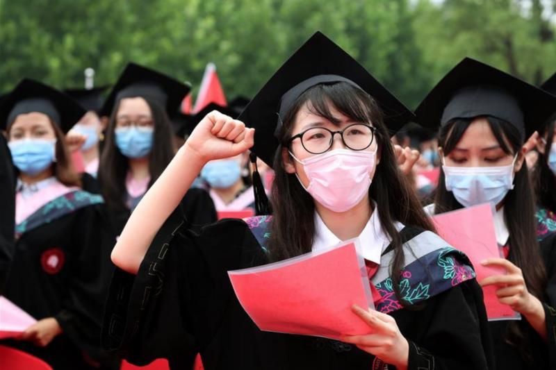 中國畢業生(圖片來源:中國網)