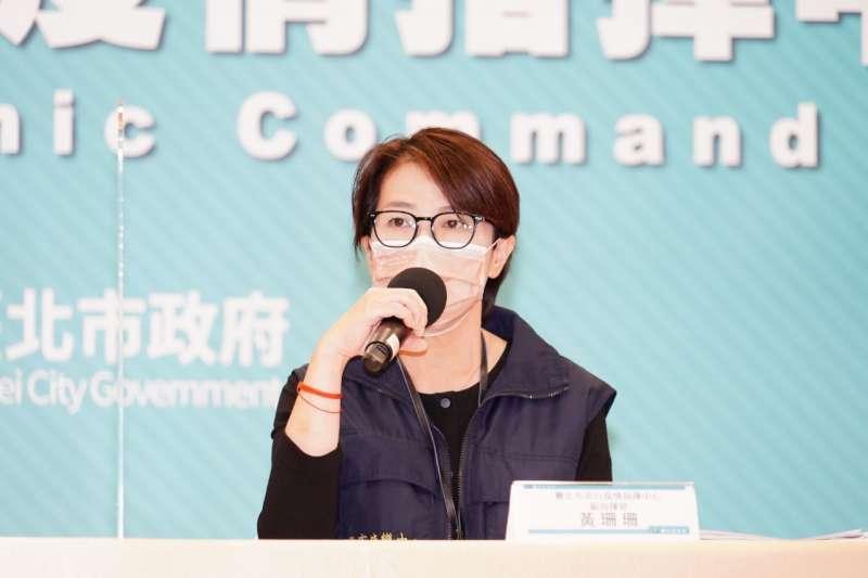 台北市副市長黃珊珊接受媒體訪問。(資料照片,北市府提供)