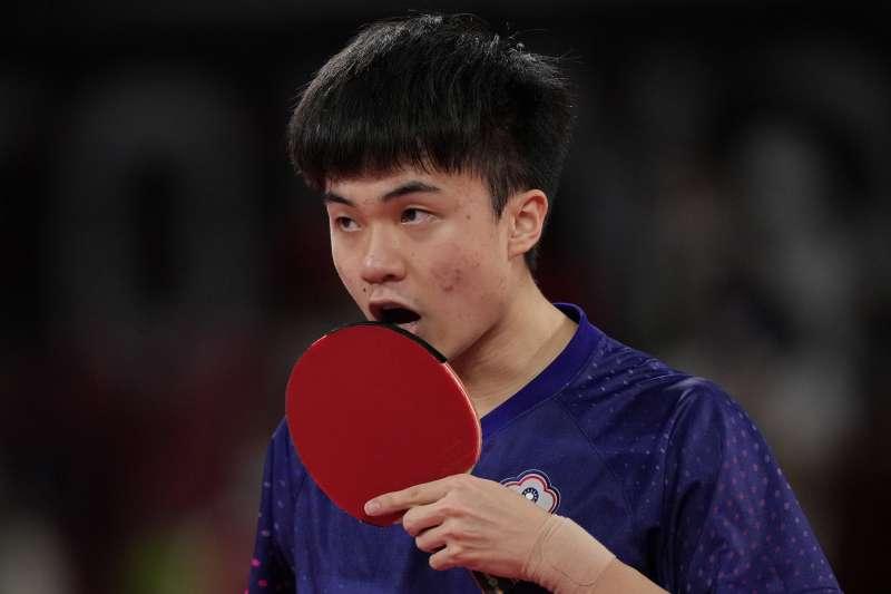 林昀儒痛失奧運男子桌球項目銅牌,讓不少人為之扼腕。(資料照,美聯社)