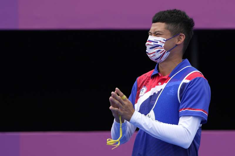 中華隊選手湯智鈞(見圖)在東京奧運射箭個人賽銅牌戰,對上日本奧運五朝元老古川高晴,以3比7不敵對手,本屆奧運個人賽以第4名作收。(美聯社)