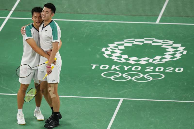 台灣羽球男雙史上最強組合王齊麟(右)與李洋。(美聯社)台灣羽球男雙史上最強組合王齊麟(右)與李洋。(美聯社)台灣羽球男雙史上最強組合王齊麟(右)與李洋。(美聯社)