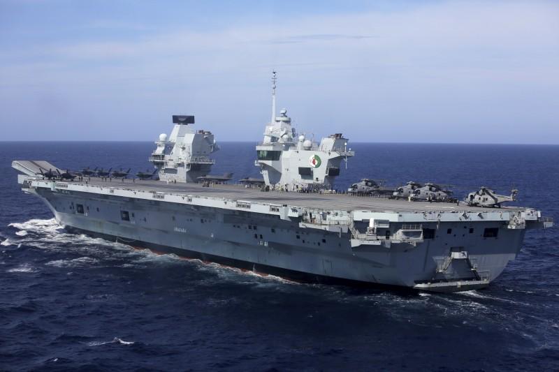 英國皇家海軍航空母艦「伊莉莎白女王號」(HMS Queen Elizabeth)(AP)