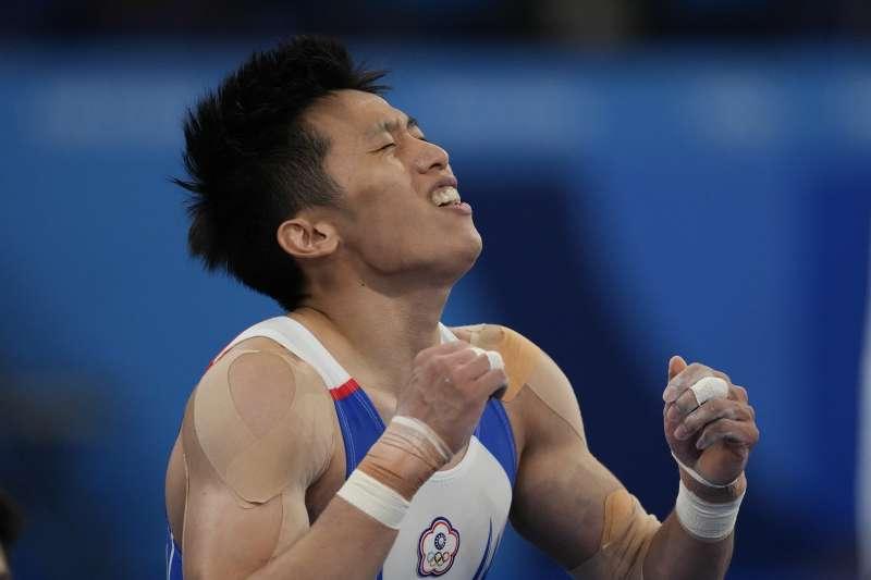 2021年8月1日,東京奧運,台灣代表隊「鞍馬王子」李智凱出賽,勇奪銀牌(AP)