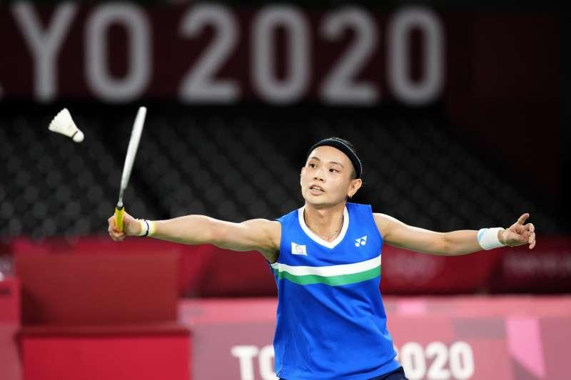 2021年8月1日,東京奧運,台灣羽球天后戴資穎出賽,對戰中國選手陳雨菲(AP)