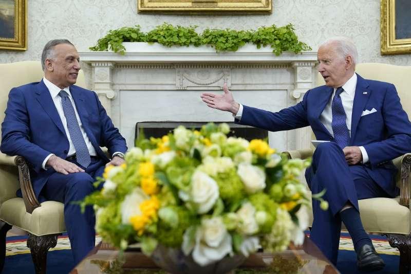 2021年7月26日,美國總統拜登在白宮會見伊拉克總理卡迪米(Mustafa al-Kadhimi)(AP)
