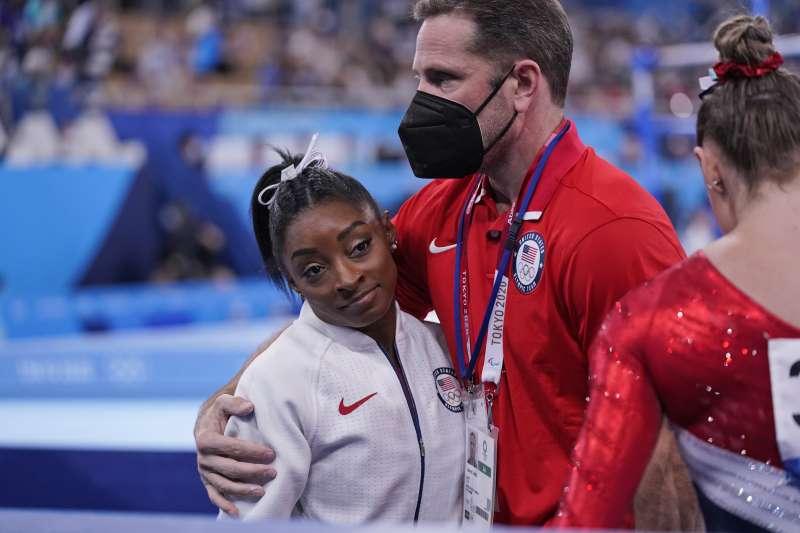 2020年東京奧運,美國體操女王拜爾斯(Simone Biles)(AP)