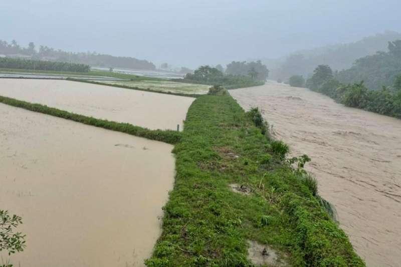 美濃在地滯洪政策預定試辦區域。(資料照,取自邱議瑩臉書)