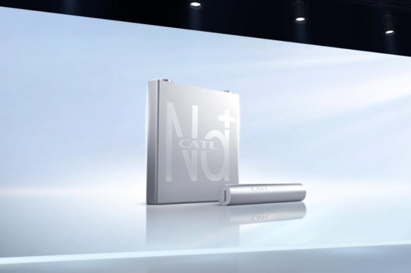 鈉離子電池(圖片來源:寧德時代鈉離子電池發佈會影片截圖)