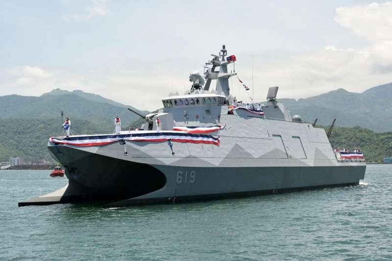 20210803-海軍高效能艦艇後續艦首艦「塔江艦」7月底交艦。(取自中華民國海軍臉書)
