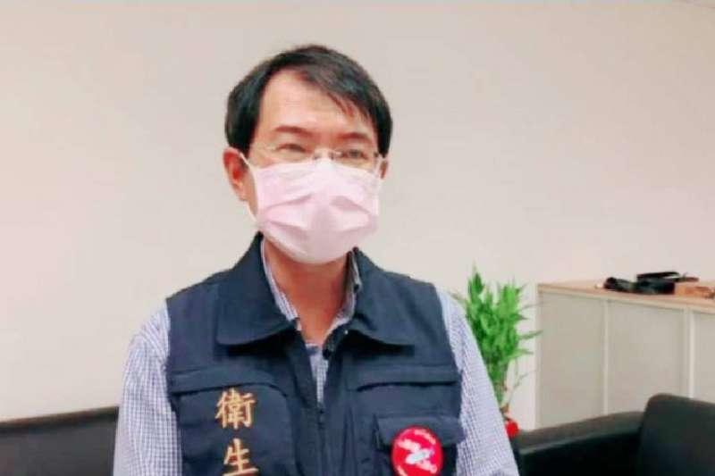 20210804-高雄市衛生局簡技潘炤穎強調,「指標個案」基於疫調、血清學檢查結果及流行病學分析判斷感染源為台北地區。(高市府提供)