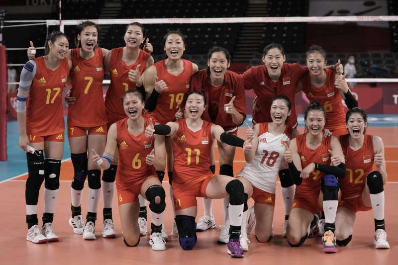 本屆東京奧運無緣八強的中國女排。(美聯社)