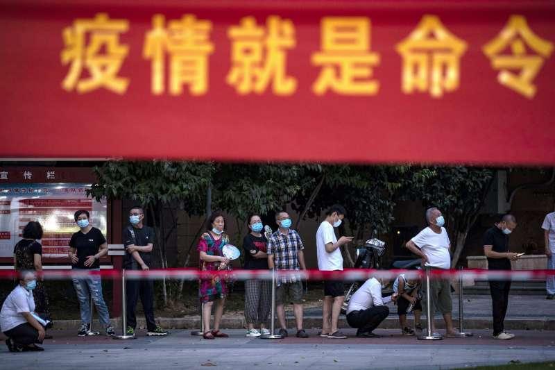 中國爆發Delta疫情。(AP)