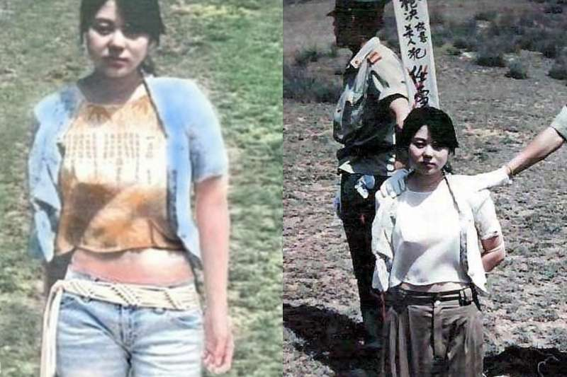 年僅22歲的任雪密謀殺害了礦場上司的女兒,手段凶殘的她與同夥最終被處以槍決死刑。(合成圖/取自百度百科)