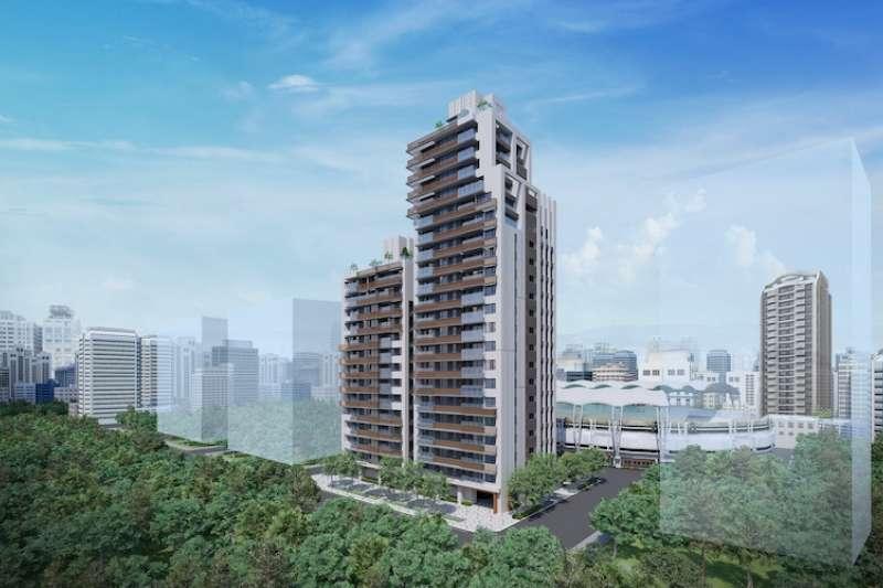 小巨蛋商圈今年推案量超過200億元,位在北寧路靜巷預售豪宅「筑丰敦匯」備受矚目。(圖/業者提供)