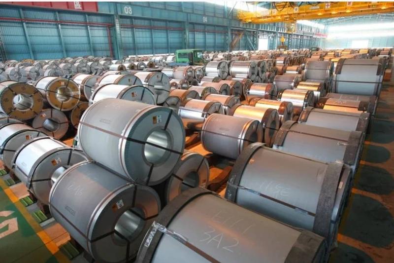 鋼鐵行業是全球碳排放大戶,汽車製造商們正競相尋找更加「綠色」的鋼材來造車。圖片為中鋼公司鋼鐵廠(圖片來源:中鋼)