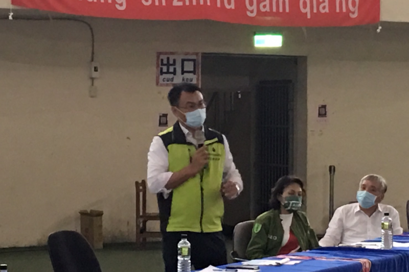 農委會主委陳吉仲親自召開農損救助工作會議。(圖/高雄市農委會提供)