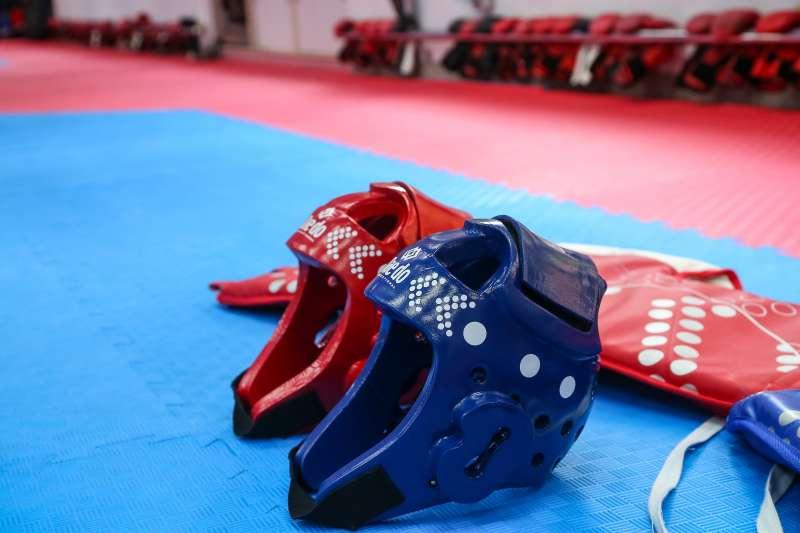 20210813-體育改革專題,桃園平鎮高中體育班,跆拳道校隊,電子護具。(顏麟宇攝)